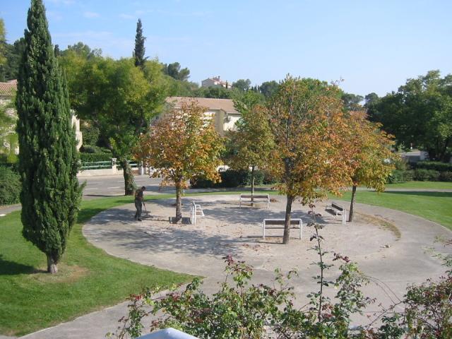 Photo des jardin de l'Aramav vu des chambres
