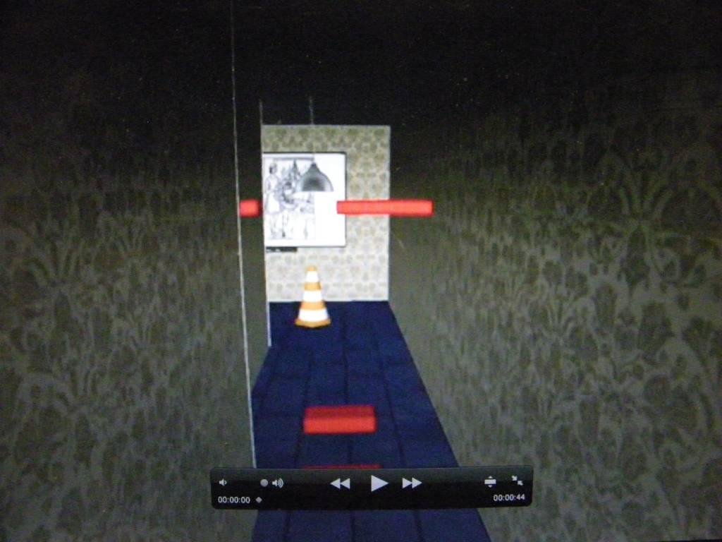 Scène dans la salle de réalité virtuelle